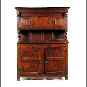 An 18th century and later Cwpwrdd tridarn type cabinet