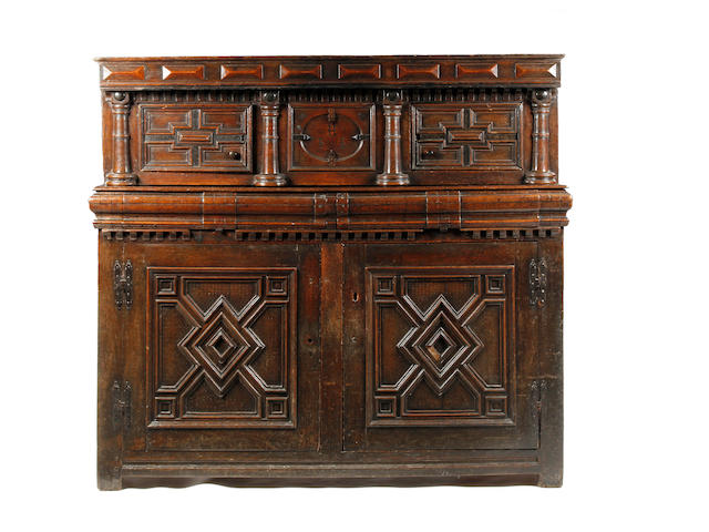 A mid-17th century oak court cupboard Circa 1640-60