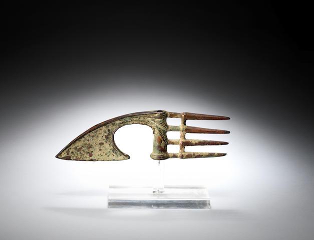 A Luristan bronze flanged axehead