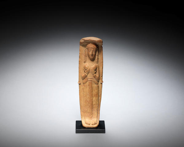 A Syrian terracotta plaque of a goddess