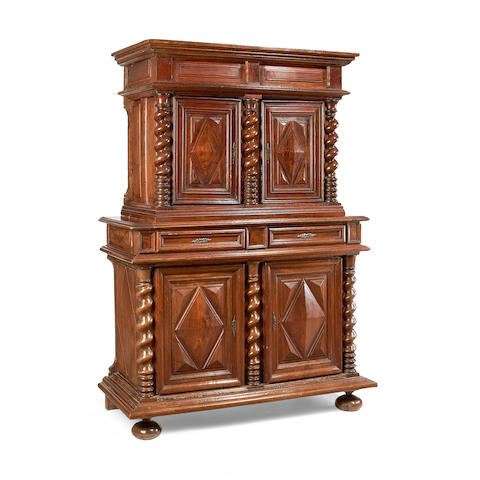 A Louis XIII walnut buffet
