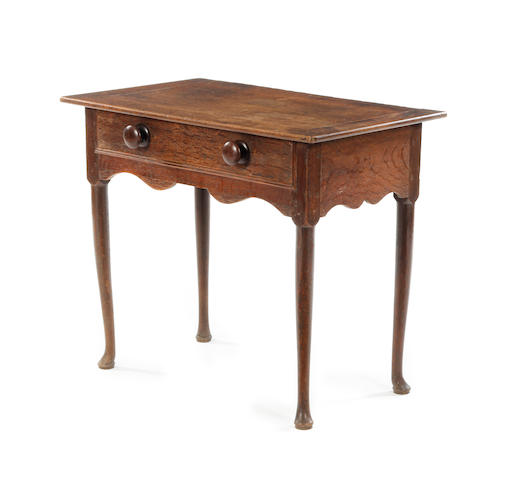 An oak side table First-half 18th century