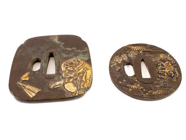 Two metal Tsuba