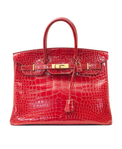 An Hermès bright red alligator Birkin bag, 1995