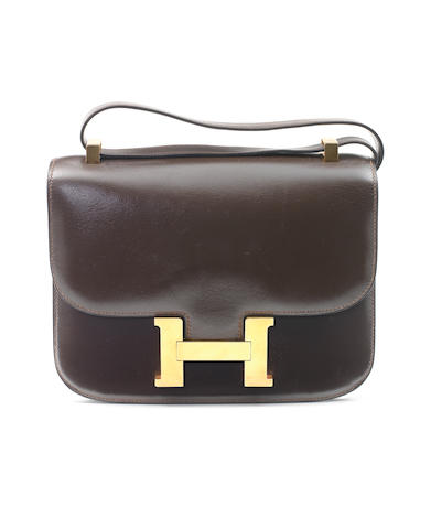 Hermes brown leather constance