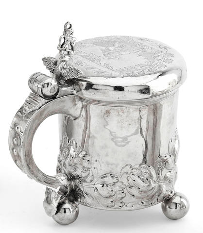 A Norwegian peg tankard probably by Hans Jorgen Blytt of Bergen, circa 1820