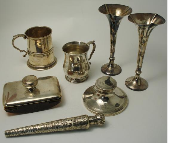 A collection of silver various makers and dates  (8)