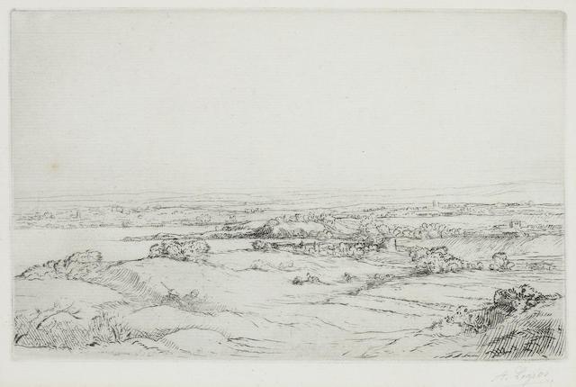 Alphonse Legros (British, 1837-1911) Two etchings