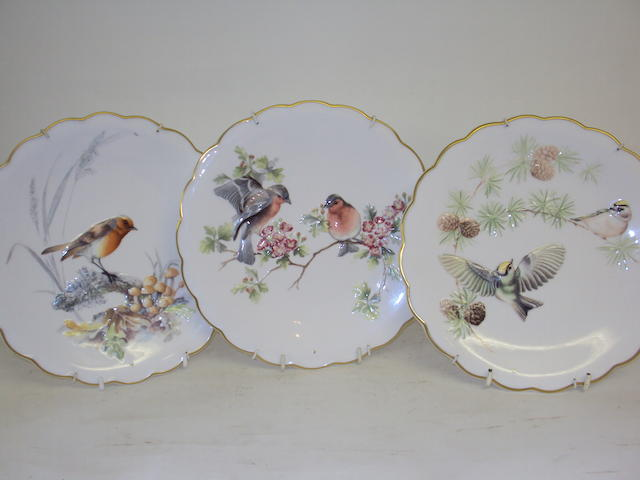 Three Royal Worcester limited edition plates