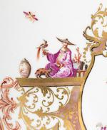 A documentary Meissen silver-mounted tankard, circa 1725-28