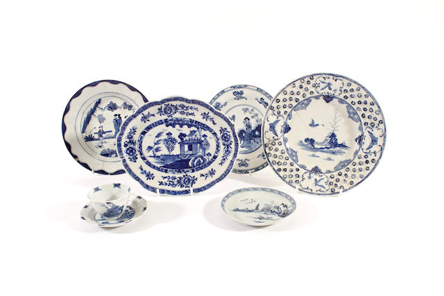 A group of English porcelain, 18th century