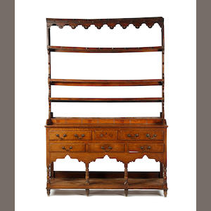 An early 19th century oak high dresserSouth Wales
