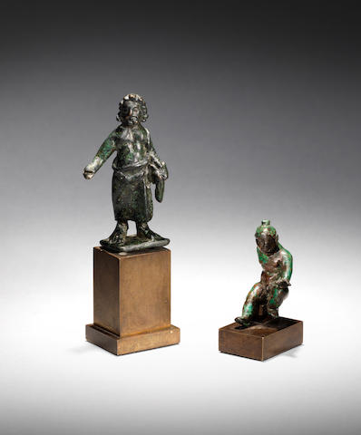 Two Roman bronze figures 2