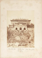 A rare group of photographs, some signed Thomas Child, including views of the Yuanming Yuan and other locations Circa 1880