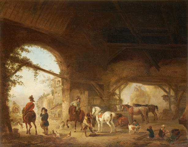 After Philips Wouwerman, 18th Century The livery stable