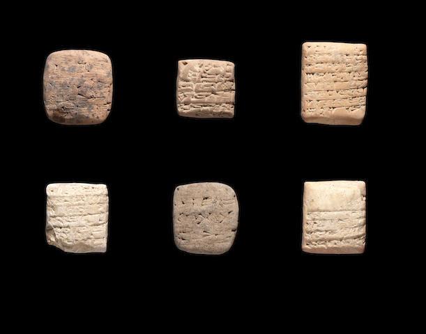 Six Mesopotamian terracotta cuneiform tablets 6