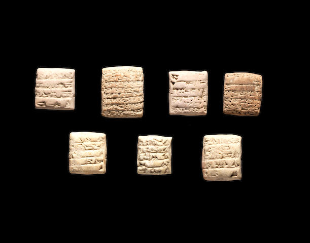 Seven Mesopotamian terracotta cuneiform tablets 7