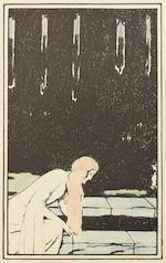Fernand Khnopff (Belgian, 1858-1921) Cinq illustrations pour 'Pelléas et Mélisande'