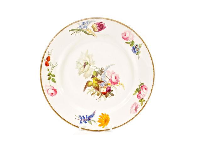 A Swansea plate, circa 1815-17