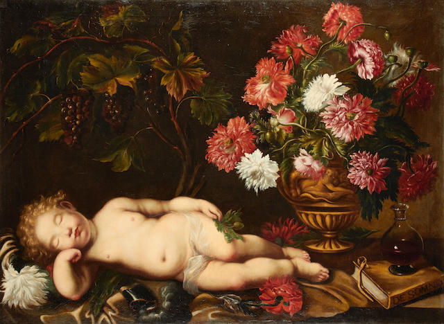 Italian School, 18th Century  An Allegory of Sleep unframed