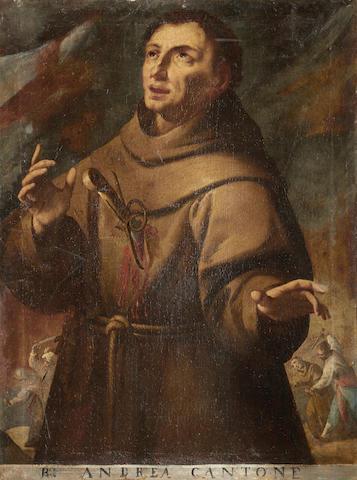North Italian School, 17th Century The Martrydom of a monk unframed