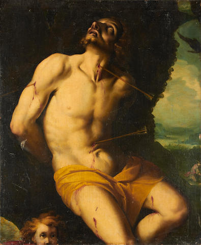 Lombard School, 17th Century Saint Sebastian unframed