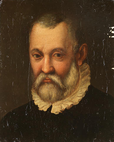 Italian School, 16th Century Portrait of a bearded man, bust-length, in a black coat and white ruff unframed