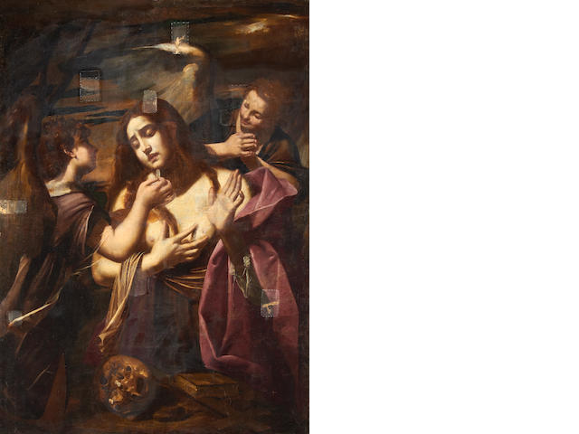 Italian School, 17th Century The Penitent Magdalene unframed