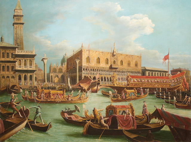 Italian School, 20th Century The Bucentaur before the Doge's Palace on Ascension Day