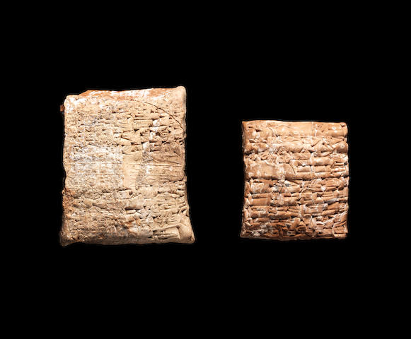 A Mesopotamian cuneiform clay tablet and envelope 2