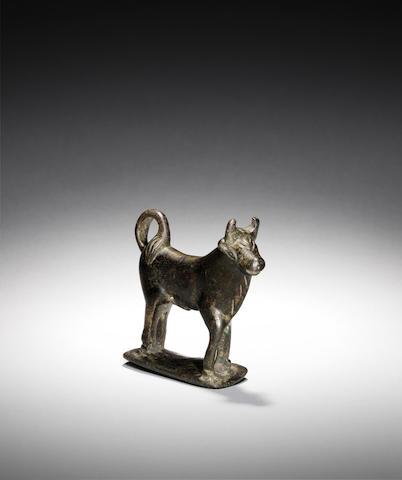 A Roman bronze bull