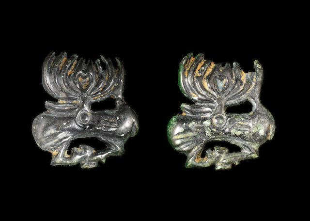 Two Scythian bronze appliqués 2