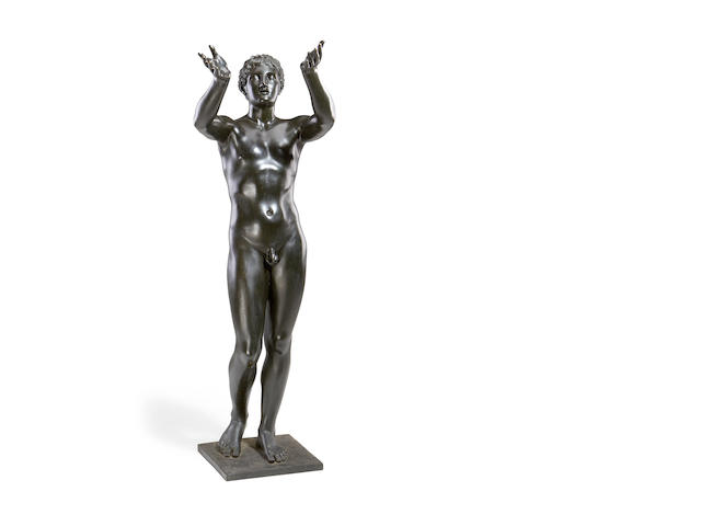 A large late 19th C bronze figure by the Sommer foundry, Naples