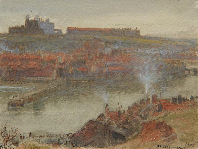 Albert Goodwin, RWS (British, 1845-1932) View of Whitby