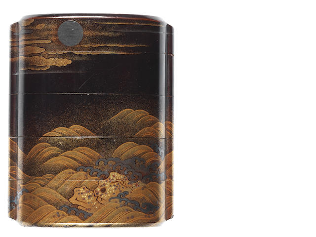Two lacquer inro 18th and 19th century