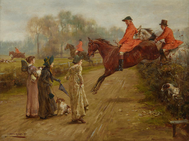 George Goodwin Kilburne, RI, RBA (British, 1839-1924) Watching the hunt
