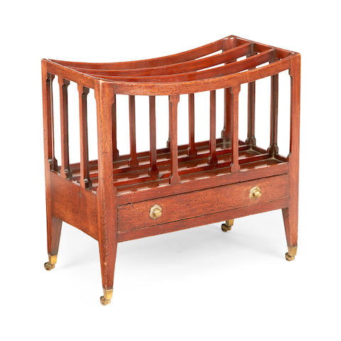 A Regency mahogany three division Canterbury