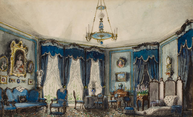 Alexandre Benois (Russian, 1870-1960) Stage design for the 'Idiot' by F. Dostoevskii