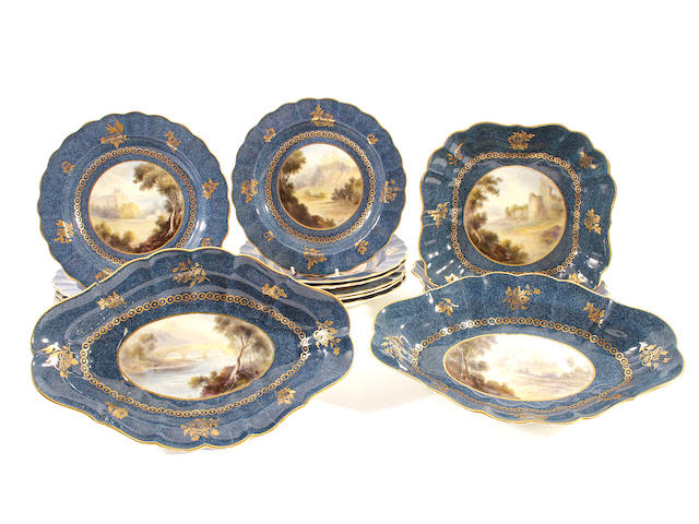 A Royal Worcester dessert service, dated 1914-18