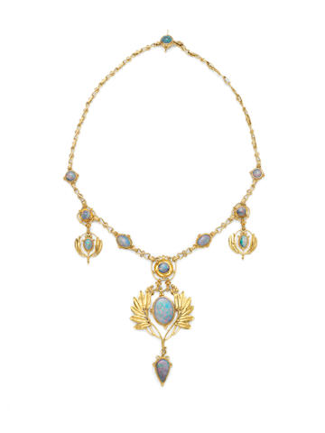 William Banbury an Arts and Crafts Opal Necklace