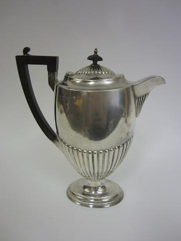 An Edwardian silver hot-water pot Sheffield 1902