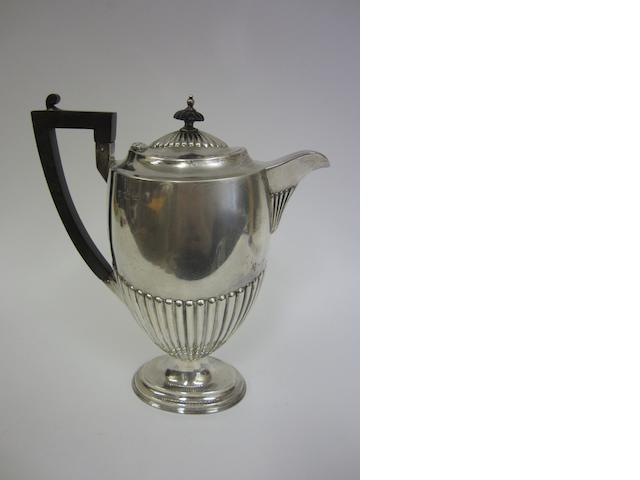 An Edwardian silver hot-water pot Sheffield 1902