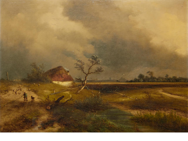 Johannes Franciscus Hoppenbrouwers (Dutch, 1819-1866) The approaching storm