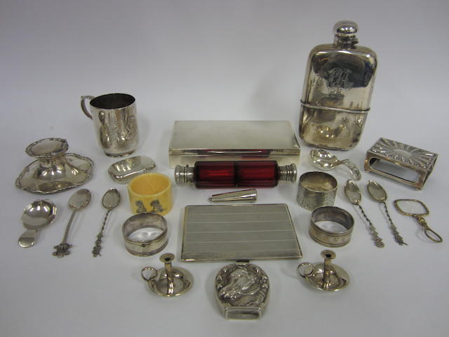 A Victorian silver vesta case London 1891