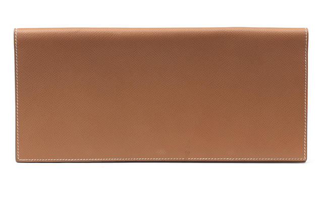 Hermes tan travelling wallet
