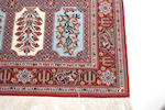 Two modern Persian garden tile rugs
