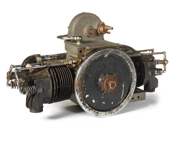 A W. E. Brough 3½hp OHV Flat-Twin engine,