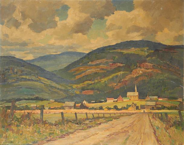 Tom Roberts, 1909-1998, Canadian Quebec landscape