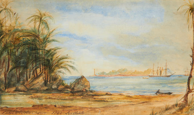 Manner of Andrew Nicholl, RHA A Ceylon harbour