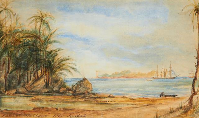 Nicholl- 'Ceylon Harbour 1842'